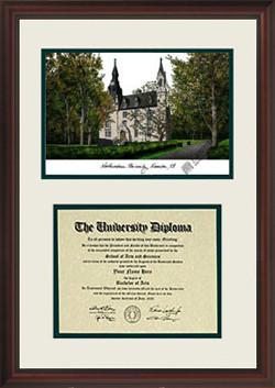 Northwestern University Scholar Diploma Frame