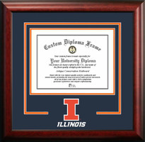 University of Illinois Spirit Diploma School Logo Frame