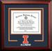 University of Illinois Spirit Diploma School Logo Frame