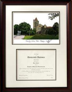 University of Illinois Scholar Diploma Frame
