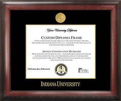 Indiana University Gold Embossed Diploma Frame, Certificate Framing