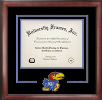 University of Kansas Spirit Diploma School Logo Frame