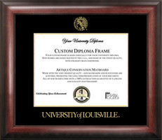 Louisville Gold Embossed Diploma Frame