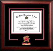University of Maryland Spirit Diploma School Logo Frame