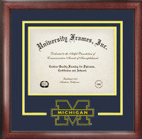 University of Michigan Spirit Diploma School Logo Frame