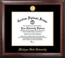 Michigan State University Gold Embossed Diploma Frame
