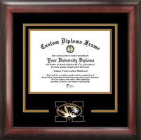 University of Missouri Spirit Diploma School Logo Frame