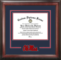 Ole Miss Rebels Spirit Diploma Frame