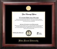 Wake Forest University Gold Embossed Diploma Frame