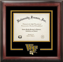Wake Forest University Spirit Diploma School Logo Frame