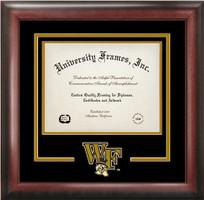 Wake Forest University Spirit Diploma School Logo Frame