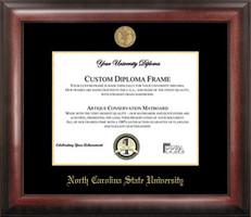 North Carolina State Gold Embossed Diploma Frame