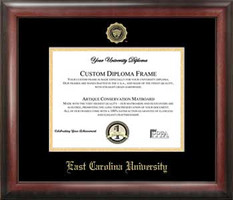 East Carolina University Gold Embossed Diploma Frame