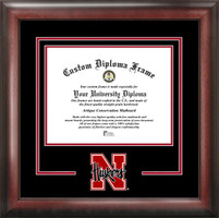 University of Nebraska Spirit Diploma School Logo Frame