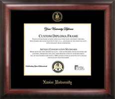 Xavier University Gold Embossed Diploma Framing