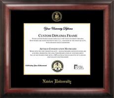 Xavier University Gold Embossed Diploma Framing