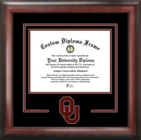 University of Oklahoma Spirit Diploma School Logo Frame