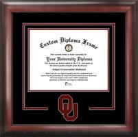 University of Oklahoma Spirit Diploma School Logo Frame