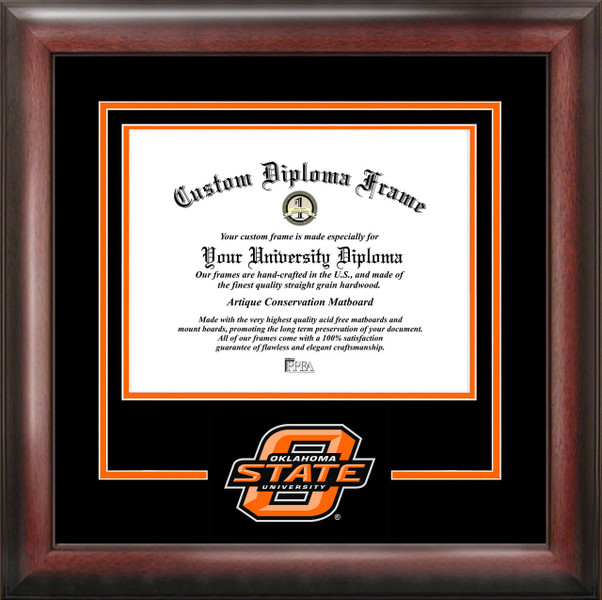 Oklahoma State University Spirit Diploma Framing