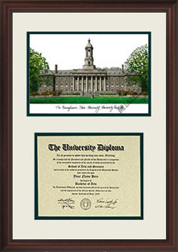 Penn State University Scholar Diploma Frame