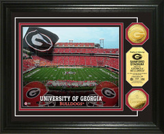 Georgia Bulldogs Sanford Stadium Gold Coin Picture