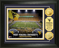 Mountaineers Milan Puskar Stadium Gold Coin Picture