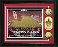 Oklahoma Sooners Memorial Stadium Gold Coin Picture
