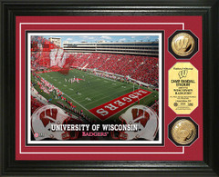 Badgers Camp Randall Stadium Gold Coin Framed Picture