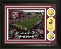 Texas A&M Kyle Field Stadium Gold Coin Picture