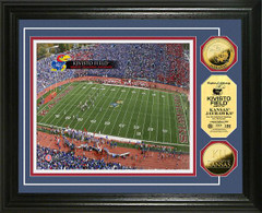 Kansas Jayhawks Kivisto Field Stadium Gold Coin Picture