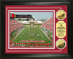 Louisville Papa Johns Cardinal Stadium Gold Coin Picture