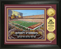 Golden Gophers TCF Bank Stadium Gold Coin Picture