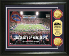 Ole Miss Vaught Hemingway Stadium Gold Coin Picture