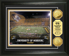 Missouri Tigers Faurot Field Stadium Gold Coin Picture
