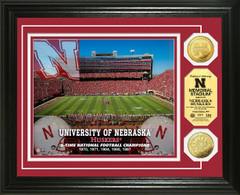 Nebraska Huskers Memorial Stadium Gold Coin Picture