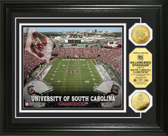 Gamecocks Williams Brice Stadium Gold Coin Picture