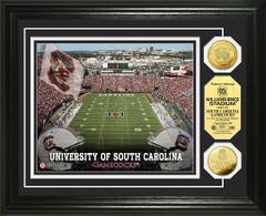 Gamecocks Williams Brice Stadium Gold Coin Picture
