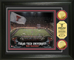 Texas Tech Jones AT&T Stadium Gold Coin Picture