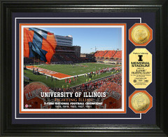 Illinois Fighting Illini Memorial Stadium Gold Coin Picture