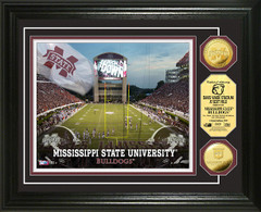 Mississippi State Davis Wade Stadium Gold Coin Picture