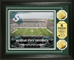 Michigan State Spartan Stadium Gold Coin Picture