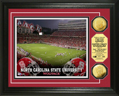 NC State Carter Finley Stadium Gold Coin Picture