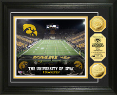 Iowa Hawkeyes Kinnick Stadium Gold Coin Picture