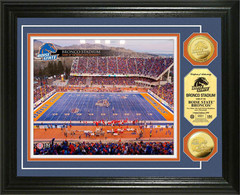 Boise State Bronco Stadium Gold Coin Framed Picture