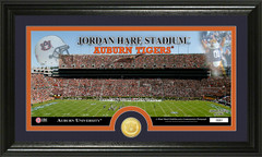 Auburn Tigers Jordan Hare Stadium Bronze Coin Photo Mint