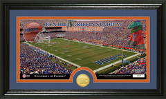 Florida Gators Ben Hill Griffin Stadium Bronze Coin Photo Mint