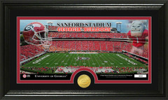 Georgia Bulldogs Sanford Stadium Bronze Coin Photo Mint