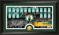 Boston Celtics World Champion Banners Framed Picture