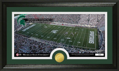 MSU Spartan Stadium Bronze Coin Photo Mint