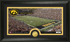 Iowa Hawkeyes Kinnick Stadium Photo with Bronze Coin Photo Mint